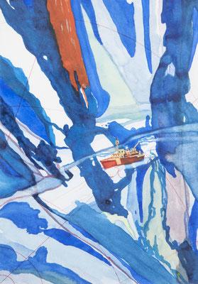 alles zerfließt, 2009, 24,6 x 17,5cm, aquarellfarbe, kreidestift/papier