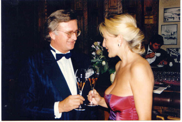Er war damals der unumstrittene Wein-König: Hardy Rodenstock. Hier bei Falstaff (1990) im Hospiz-Hotel St. Christoph/Arlberg