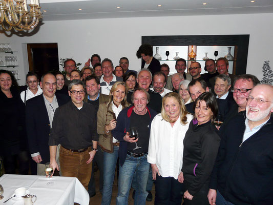 Die alten SWF3-Elche. Eine große Familie. Zum 80. Geburtstag unseres damaligen Chefs Peter Stockinger kamen alle aus aller Welt angereist. Einer sogar aus Australien.