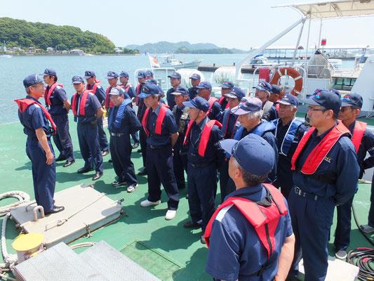 海上マナーの啓発活動
