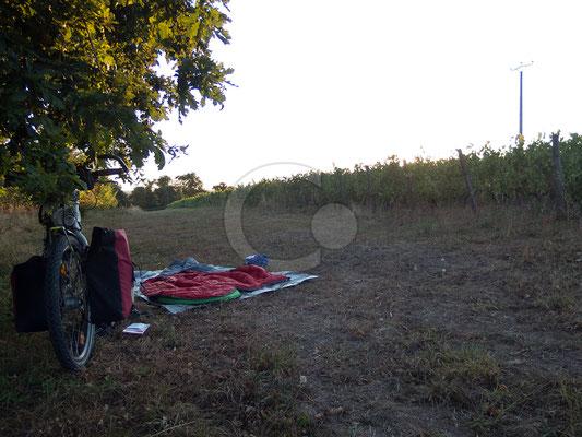 24.08.   camping sauvage à Épiré