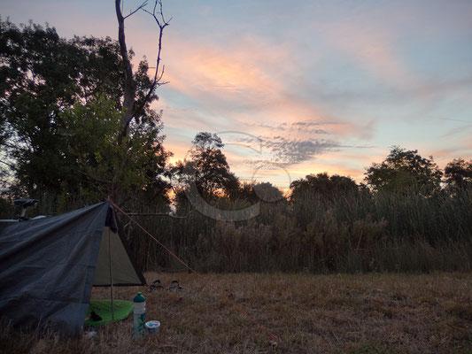 12.09.   le matin apres camping sauvage à côté La Rochelle