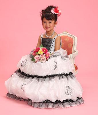 5歳 女の子 記念撮影 ドレス写真 バースデーフォト