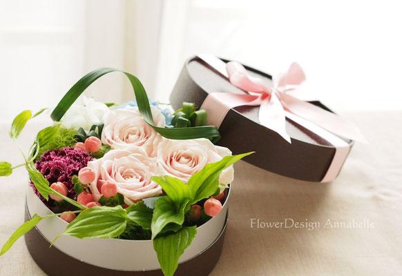 パリスタイル ボックスフラワー フラワーアレンジメント FlowerDesign Annabelle