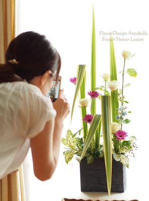 FlowerDesignAnnabelle フラワーアレンジメント パリスタイル フレンチコース パラレリスム