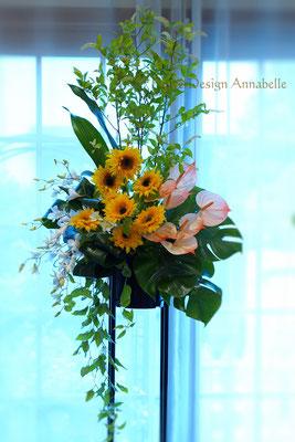スタンド花 フラワーアレンジメント パリスタイル FlowerDesign Annabelle