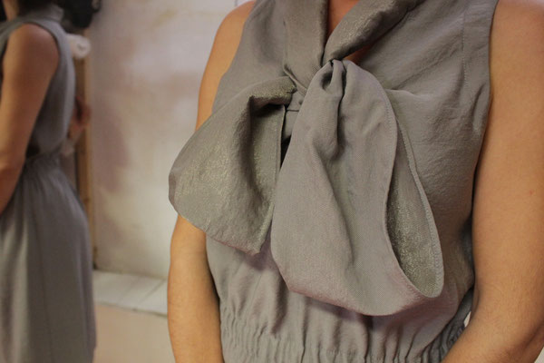 Robe noeud, brume- Polyester mélangé - Taille 2