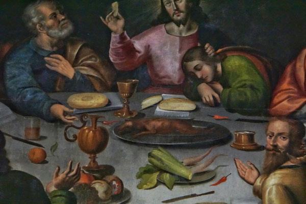 Meerschweinchen beim letzten Abendmahl. Dünne historische Belege.