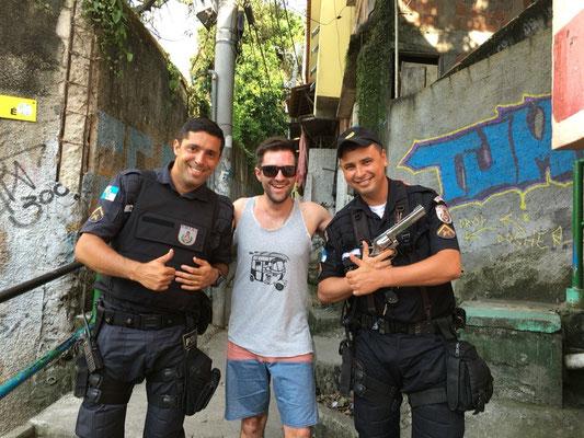 Favela style posing.