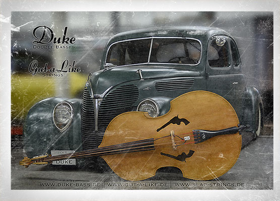 Duke Revolver Peacemaker und 1938er Ford Coupe