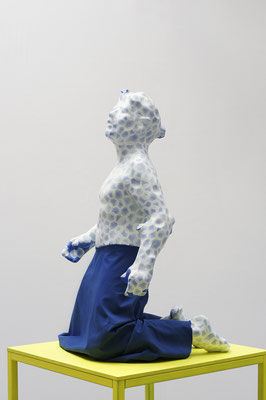 Momentum |2013 | 165 x 85 x 85 cm |64.96 x 32.46 x 32.46 in. | Painted Cast | Fabric |Painted Pedestal