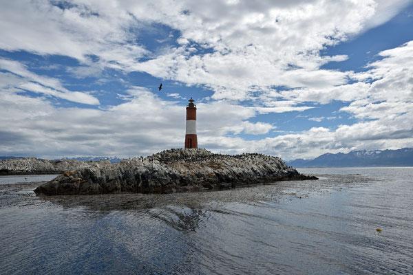 Faro Les Éclaireurs, Leuchtturm auf einer argentinischen Insel im Beaglekanal