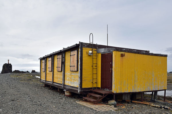 Gebäude der Antarktisstation