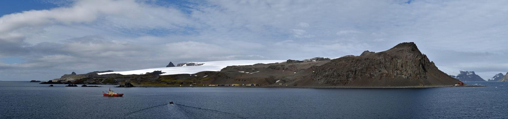 die polnische Antarktisstation Arctowski auf King George Island