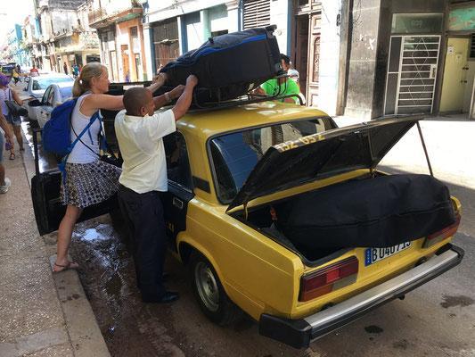 Retour à l'aéroport en taxi