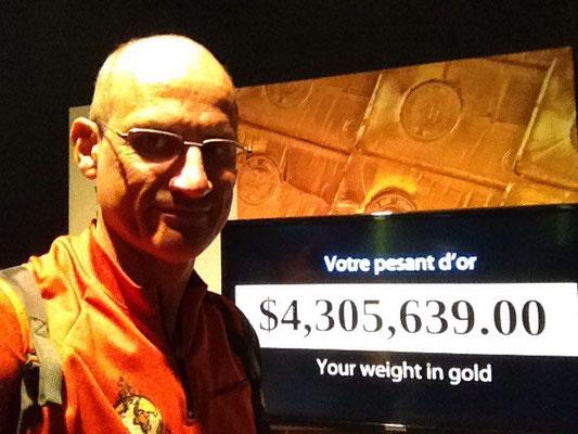 Ce que je vaudrais si j'étais en or en $ canadiens