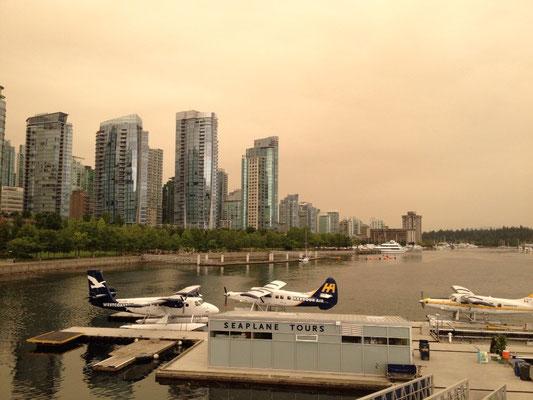Vancouver: ciel orangé à cause d'incendies de forêt