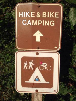 Espace réservé aux bikers dans les campings