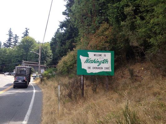Entrée dans l'état de Washington