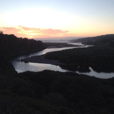 Joli coucher de soleil à Gualala