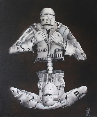 """Simulation 03/12""; Öl auf Leinwand, 60x50 cm"