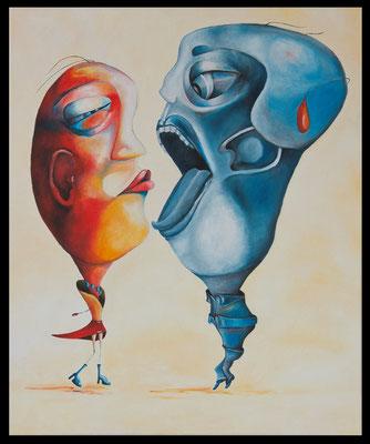 Du mich auch, Öl auf Leinwand, 50x60 cm (Private Sammlung, Lübeck)