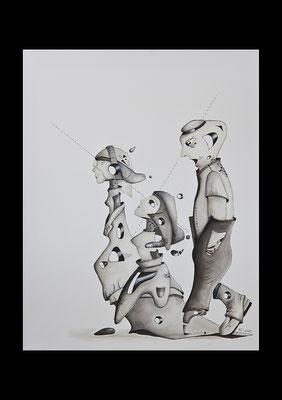 """""""Erwachsen werden 2""""; Öl auf Leinwand, 50x40 cm (Private Sammlung, Berlin)"""