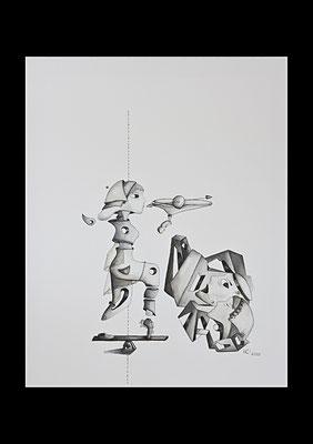 Erwachsen werden 3, Öl auf Leinwand (Private Sammlung, Berlin)