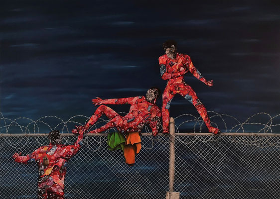"""Sehnsucht 2015""; Öl auf Leinwand, 120x140 cm"
