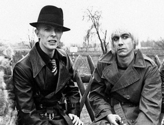 David Bowie e Iggy Pop en berlin