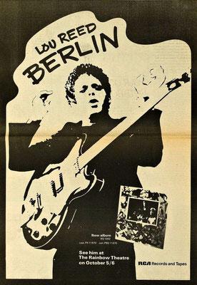 Lou Reed Cartel álbum Berln