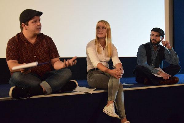 Fachjury im Schillerhofkino Jena: Karl Kubik, Ines Göbel & Arvid Neid