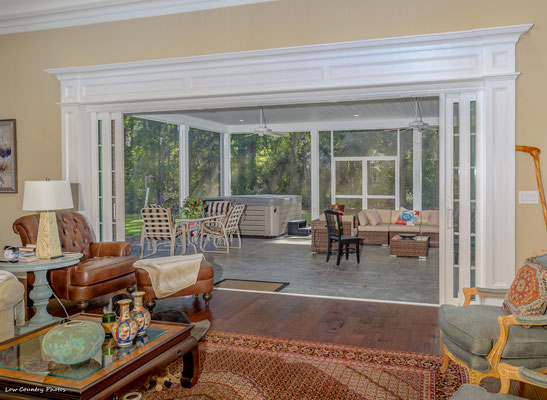 Expansive Sliding Doors Really open up this Living Space