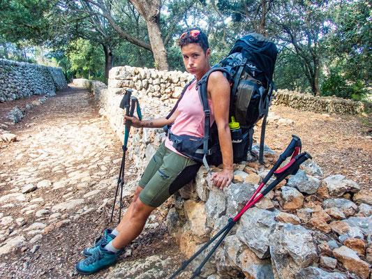 Mehrtagestrekking auf dem GR 221 auf Mallorca - Etappe 5 der Wanderung von Banyalbufar nach Esporles