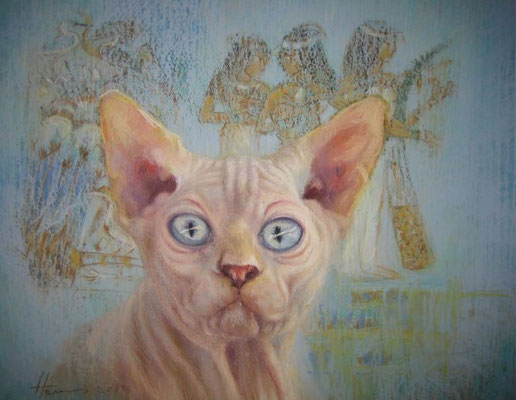 Chat egyptien 40x30