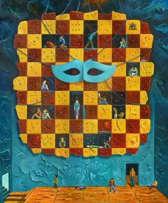 """Factor Humano (Domino Humano)"" (Oleo, 120x100) - 2016"