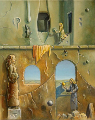 Guardianes de un todo - Oleo 50x40 (2005) - Daniel Dankh