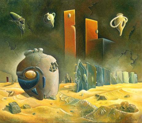 Suburbios - Oleo 50x60 (2005) - Daniel Dankh