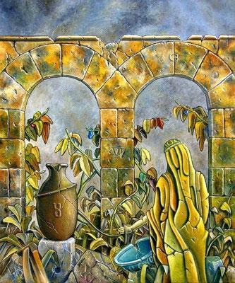 El Jardín - Oleo 60x50 (2005) - Daniel Dankh