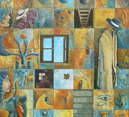 Puzzle ( de los Misterios ) - Oleo,100x90 - Daniel Dankh 2011