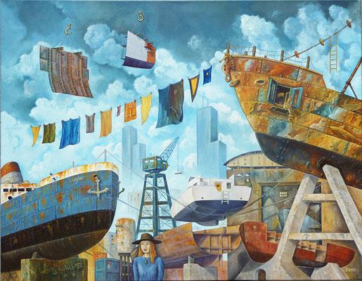 Ruptura (Adios) - Oleo 70x90 (2010) - Daniel Dankh