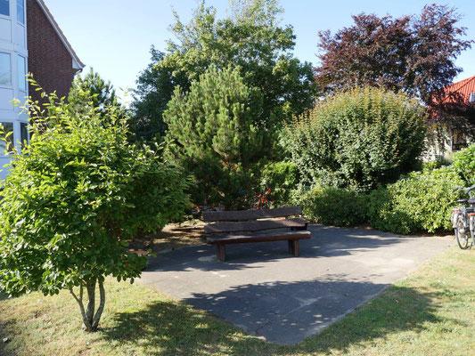 Ein ruhiges Plätzchen im Garten der Robbenplate Duhnen