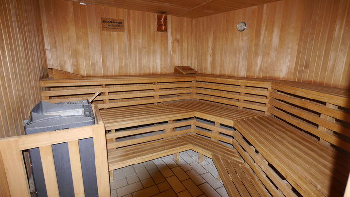 Die großzügige Sauna in der Residenz Meeresbrandung
