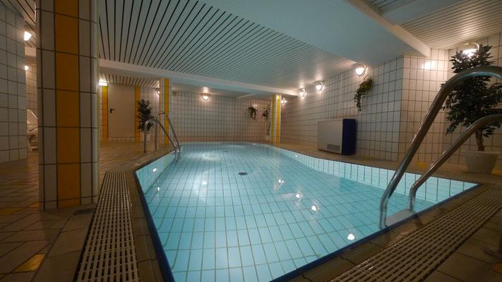 Das hauseigene Schwimmbad der Residenz Meeresbrandung