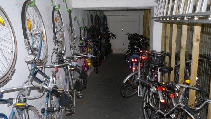 Der Fahrradkeller der Residenz Meeresbrandung