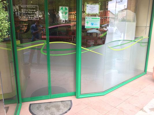 Marquage vitre Pharmacie
