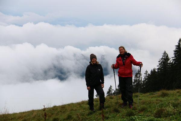 Nachmittagswanderung - über den Wolken...
