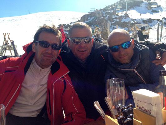 Von links: Stresi, Hagen, Steffen...