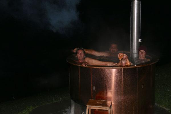 Hotpot am Maiensäss - heiss genug...