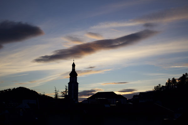 Kastelruther Kirche in Abendstimmung...